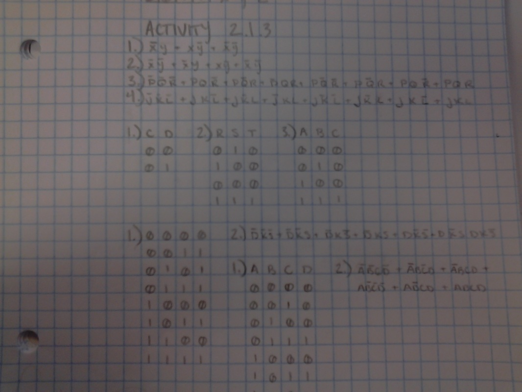 2 1 3 - Truth Tables - Jordan's Projects